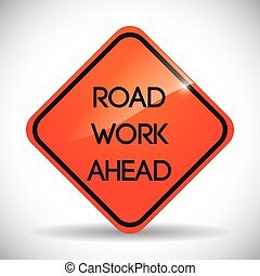 Road design. - Road design over white background, vectori...