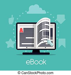 Ebook design - Ebook digital design, vector illustration eps...