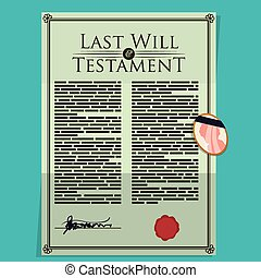 Testament design - Testament design over blue background,...
