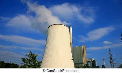 A Power plant with sky - Kraftwerk