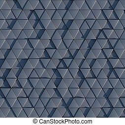 Seamless 3D triangular prism pattern