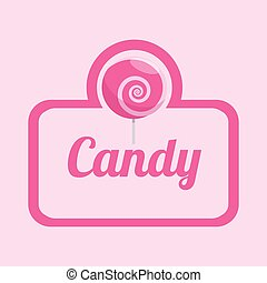 Sweet food design over pink background, vector illustration