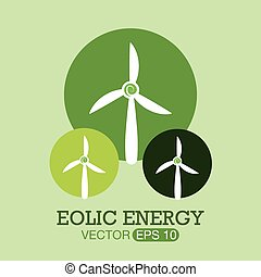 Eco design over green background, vector illustration