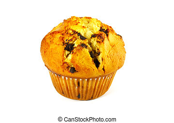 Muffin Baked and Isolated on a White Background