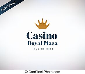 Casino vector logo icon. Poker, cards or game and money...