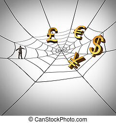 Web Business - Web business concept and earning global money...