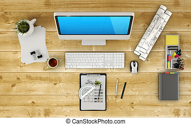 Home based business concept - Design of modern architect...