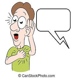 Man Hearing Shocking News