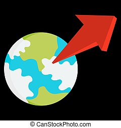 Exponential Growth Globe - An image of an exponential growth...
