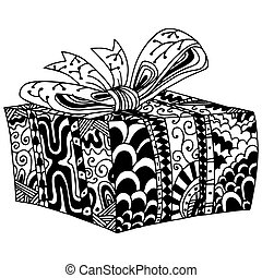 Wrapped Gift in Box - An image of a wrapped gift in a box -...