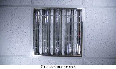 fluorescent lights - Bank of fluorescent lights