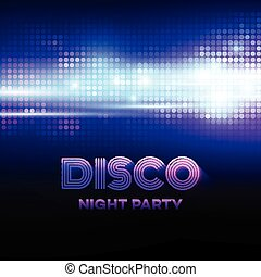Disco background with discoball. Vector illustration EPS 10