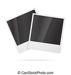 Two blank vector instant photo frames.
