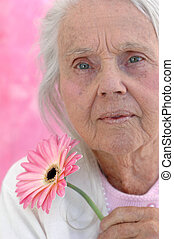 Feminine Great Grandmother - Great grandmother with a pink...
