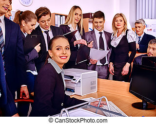 Group business people in office - Happy group business...
