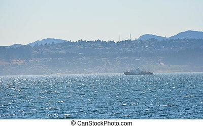 Greenpeace Leaves Victoria - A Greenpeace vessel leaves...