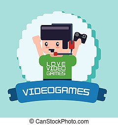 Video games design - Video games digital design, vector...