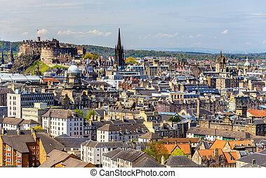 View of the city centre of Edinburgh - Scotland