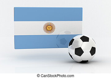Argentina Soccer - Flag of Argentina with soccer ball
