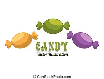 Sweet food design over white background, vector illustration