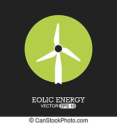 Eco design over grey background, vector illustration