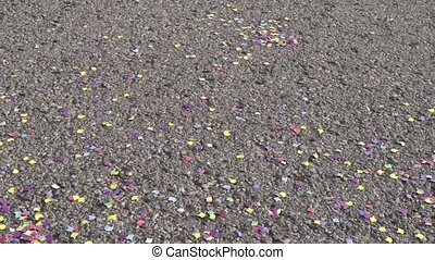 Celebration - Party - Carnival - confetti and streamers on...