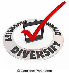 Diversify Check Mark Box Mix Investment Spread Portfolio
