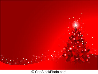 Christmas Background - Red Christmas Background Created in...
