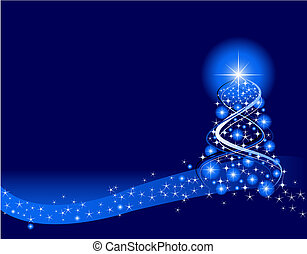 Christmas Background - Blue Christmas Background Created in...