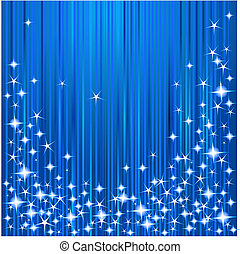 Christmas stars and stripes - Blue Christmas background with...