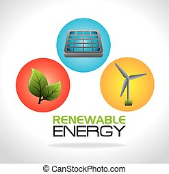 Eco energy design - Green energy design, vector illustration...