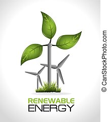 Eco energy design. - Green energy design, vector...