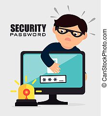 Security digital design. - Security digital design, vector...