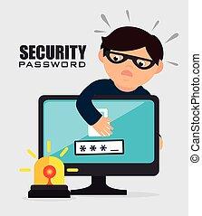 Security digital design. - Security digital design, vector...