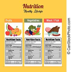 Food digital design. - Food design, vector illustration eps...