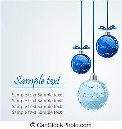 Shining Christmas balls - Christmas balls, isolated over...