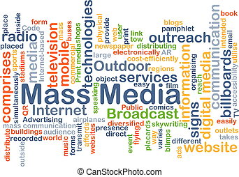 Mass media background concept - Background concept wordcloud...