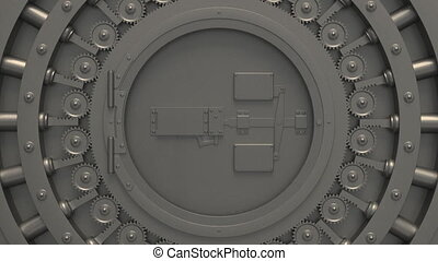 bank vault steel bank vault Money, in full HD