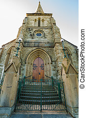 Hobart Historic Church - Frontal view of the Congregational...