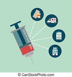 Medical design - Medical digital design, vector illustration...