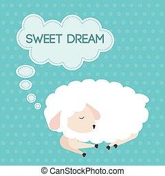 Sweet dreams design. - Sweet dreams design, vector...