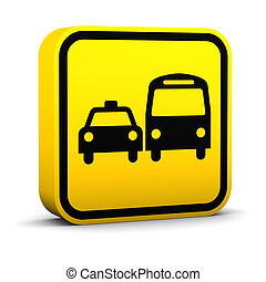 Ground Transportation Sign - Ground transportation sign on a...