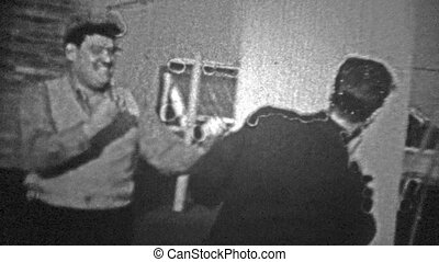 NEW YORK CITY - 1944: Men pretend - Original vintage 8mm...