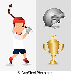 hockey design and sport background, vector illustration,...