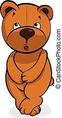 self-conscious plush bear vector illustration eps 10