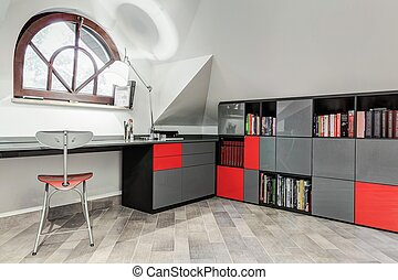 Modern study room for teenager