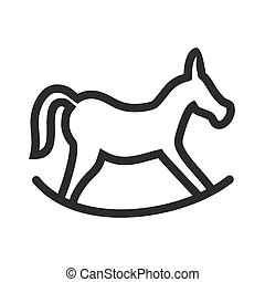 Rocking horse - Horse, riding, race icon vector imageCan...