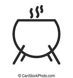 Cauldron, scary, fear icon vector imageCan also be used for...