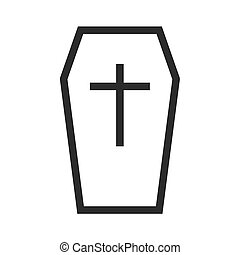 Coffin, dead, box icon vector image.Can also be used for...