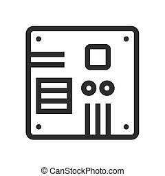 Motherboard, computer, circuit, board icon vector image. Can...